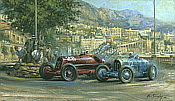 Alan Fearnley: Fire and Ice, Monza Alfa 8cs, Bugatti Type 51