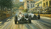 Alan Fearnley: The Last of the Titans, Mercedes, von Brauchitsch and Caracciola