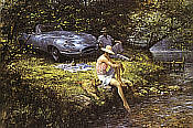 Alan Fearnley: Summer of 62,  Jaguar E-Type
