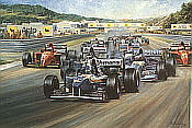 Alan Fearnley: Triple Achievement, David Coulthard, his first F1 victory