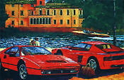 F328GTB and Testarossa by Barry Rowe