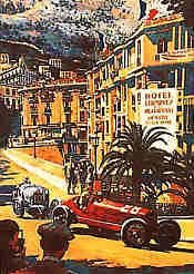Monaco 1933 - Nuvolari and Varzi - by Barry Rowe