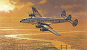 Robert Watts: Early Morning Arrival, Super Constellation