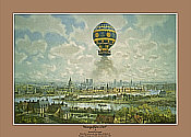 Aviation Art by Kenneth McDonough: Montgolfiere 1783 over Paris