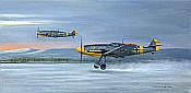 Aviation Art by Gerald Coulson: Morning Chorus, Me 109