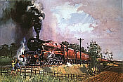 Eisenbahnkunst von Terence Cuneo: The Lickey Incline - LMS 5593