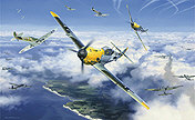 Nicolas Trudgian: High Summer High Battle, Bf 109E, Spitfire