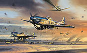 The Battle for New Years Day - P-51D Mustang von Nicolas Trudgian